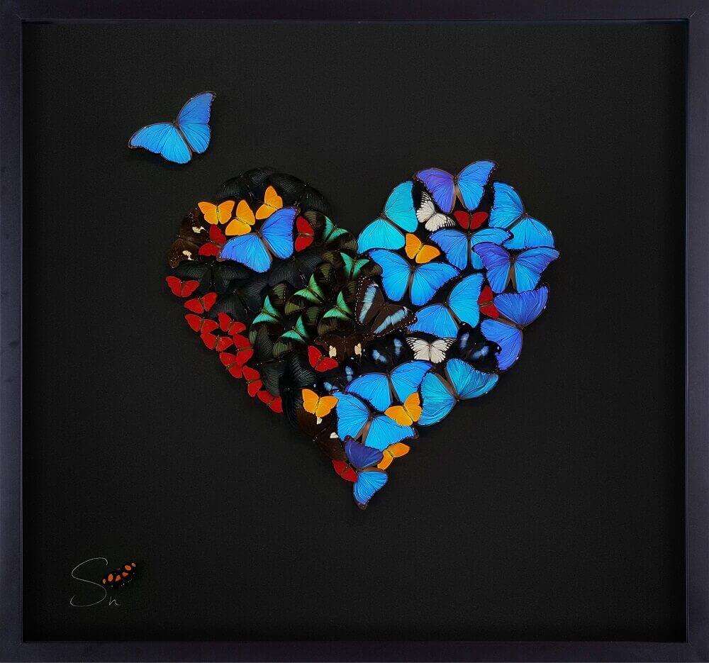 Heart of Butterflies Black